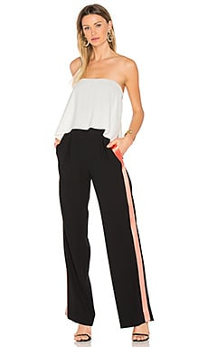 Amare Jumpsuit in Ivory & Black