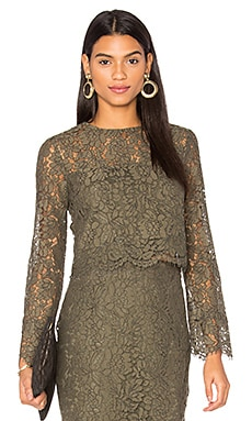 Yeva Lace Top in Olive