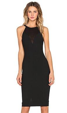 Karina Dress in Black & Black
