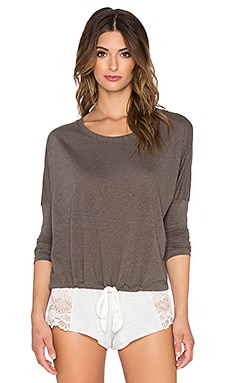 Heather Slouchy Tee in Tapenade