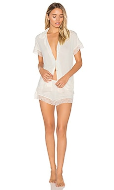 Malou Lace PJ Set in Bone & Frosted Cream