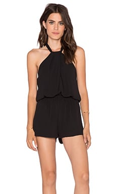 Knotted Romper in Black