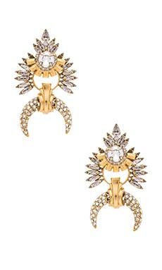Earring in Golden Crystal
