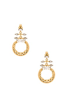 Earring in Golden Crystal