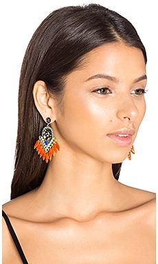 Earrings in Tangerine