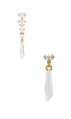 Oval Gem Drop Earring in Crystal
