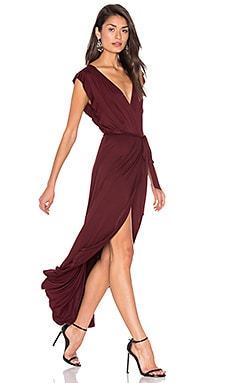 Bella Wrap Dress in Port