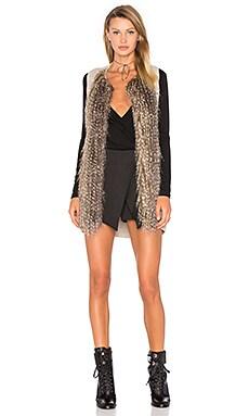 Kya Faux Fur Vest in Heather Oatmeal