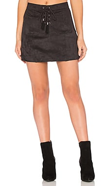 Connelly Faux Suede Skirt in Black