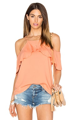 Stella Cold Shoulder Top in Salmon