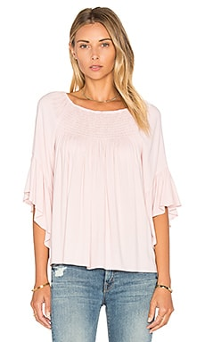 Stella Ruffle Top in Ballerinas