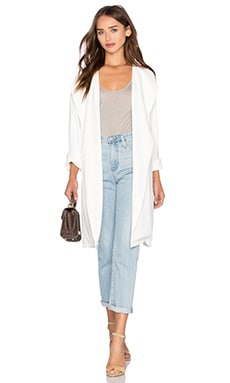 Discovery Trench Coat in White