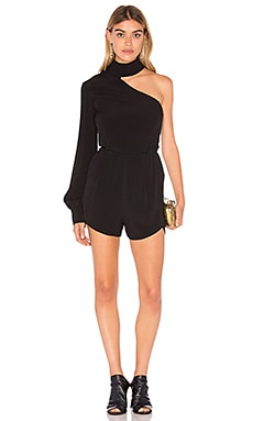 Cubism Playsuit in Black