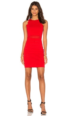 Woven Sleeveless Dress in Red
