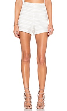 Marielle Woven Short in Off White