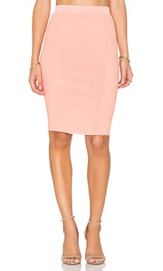 Knit Midi Skirt in Nude Pink