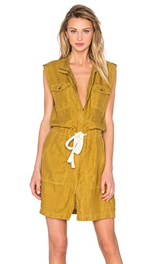 Utility Tank Dress in Ecru Olive