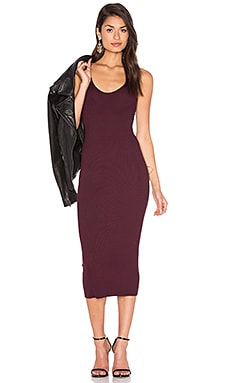 Rib Tank Dress in Port