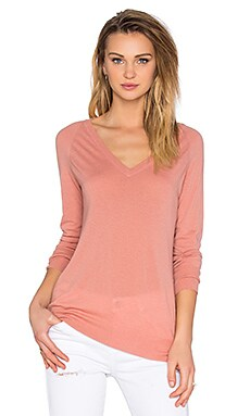 Asher V-Neck Sweater in Desert Sand