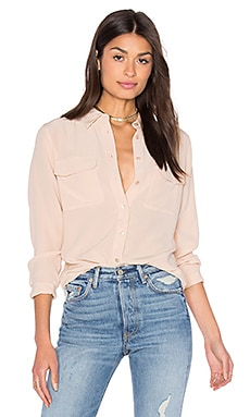 Slim Signature Blouse in Nude