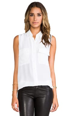 Sleeveless Signature in Bright White