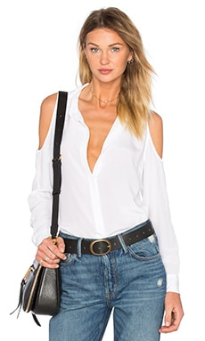 Cold Shoulder Top in White