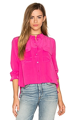 Cropped Signature Button Up in Cosmopolitan