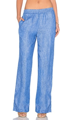 Laureen Wide Leg Pant in Sky Line
