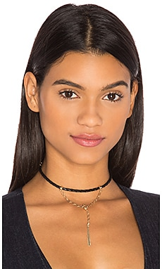 Connected Choker in Black & Gold