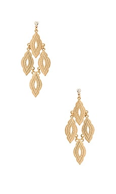Hanging Drop Earring in Gold