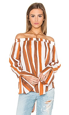 Dream Top in Melrose Stripe Brown