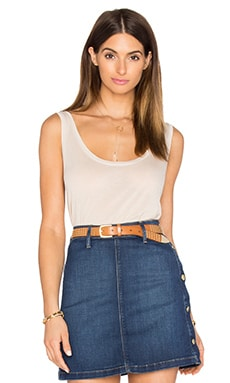 Le Slouchy Scoop Tank in Nude