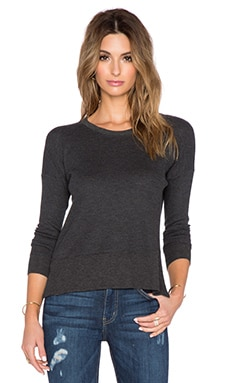 May Crew Neck Sweater in Charcoal