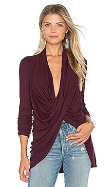 Crossover Top in Eggplant
