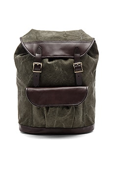Rugged Canvas Rucksack in Otter Green