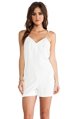 Love Me Do Playsuit in Ivory