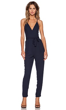 Here We Go Jumpsuit in Navy
