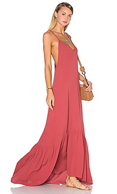 Topanga Maxi in Red Velvet