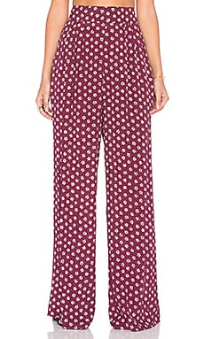Just High Pant in Ruby Daisy