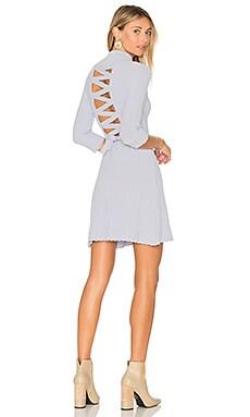 x KNITZ Simone Laced Back Sweater Dress in Powder Blue