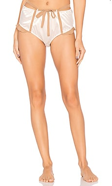 x SKIVVIES Lucienne Hi Waist Panty in Pink & Nude
