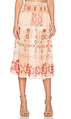 Barcelona Midi Skirt in Creme