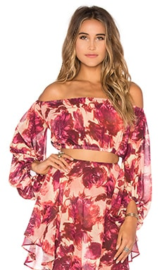 Wild Rose Top in Rosey Floral