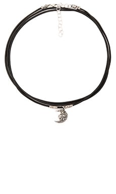 Wrap Ransom Choker in Moon & Black