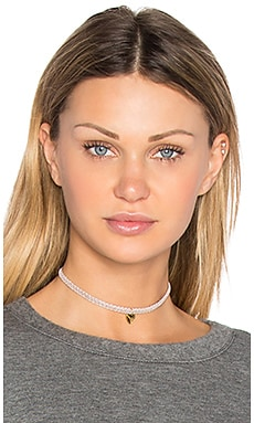 Nothing But Love Choker in Taupe Heart