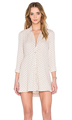 This Town Buttondown Dress in Cream Combo
