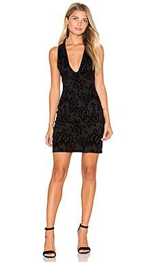 Velvet Bodycon Dress in Black