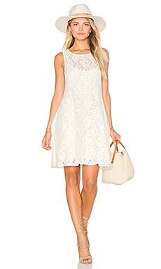 Miles of Lace Dress in Ivory