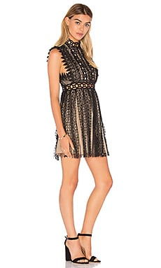 Forever Lace Babydoll Dress in Black