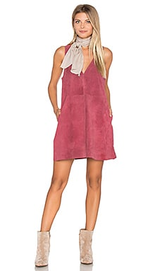 Retro Love Suede Dress in Rose